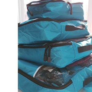 5 piece packing cubes/ luggage organizers set